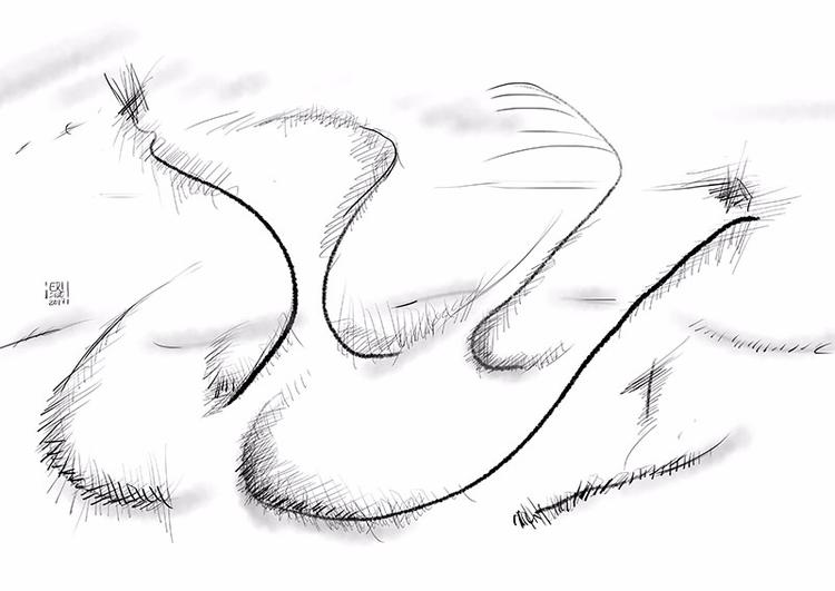 Paisaje abstracto - 7, abstractart - erisado | ello