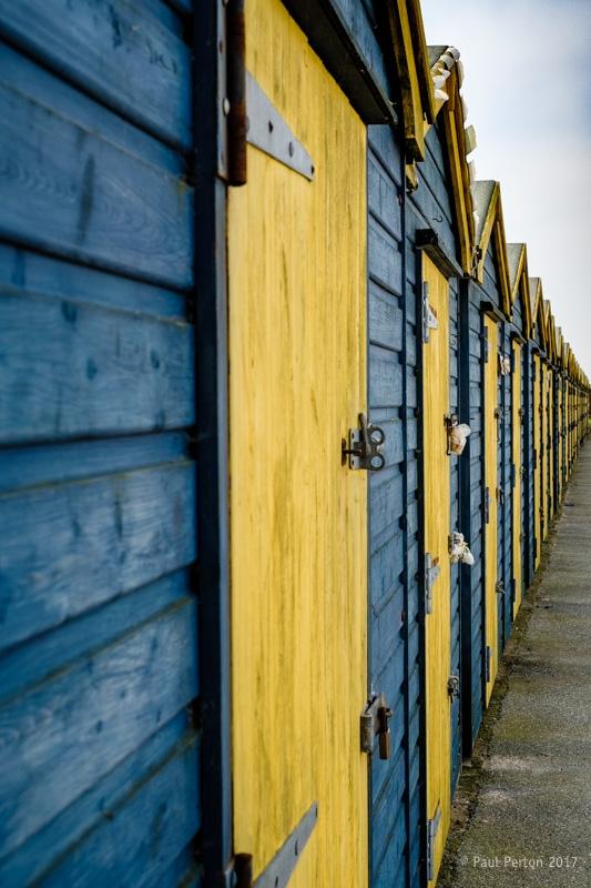 Beach huts, Whitstable Street s - paulperton | ello