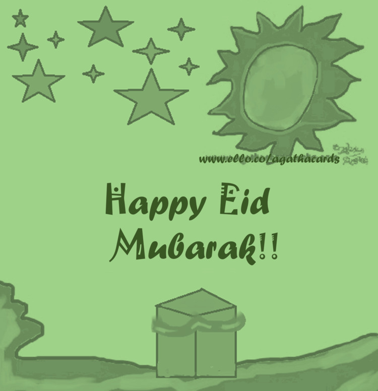 late, Muslim followers Happy Ei - agathacards | ello