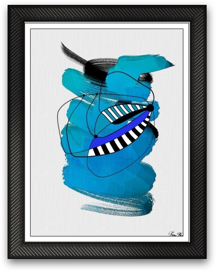 Blue DNA - $250 - mixedmedia, art - ginastartup | ello