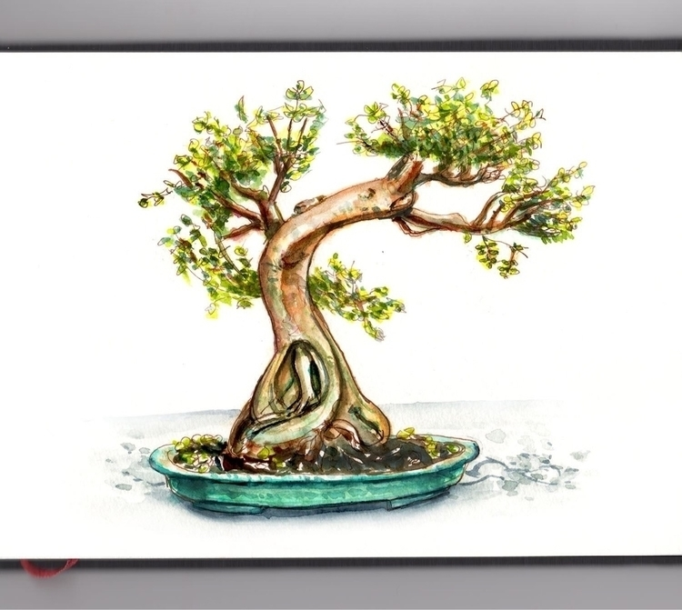 - Day 29 Favorite Tree - WorleWatercolorGroup - doodlewash | ello