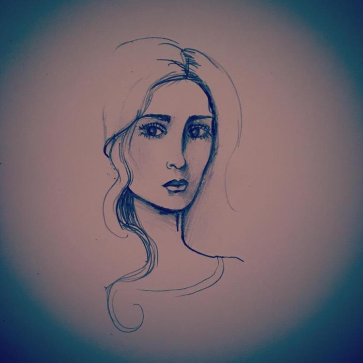 Sketching - art, lady, drawing - nicolewhelanart | ello