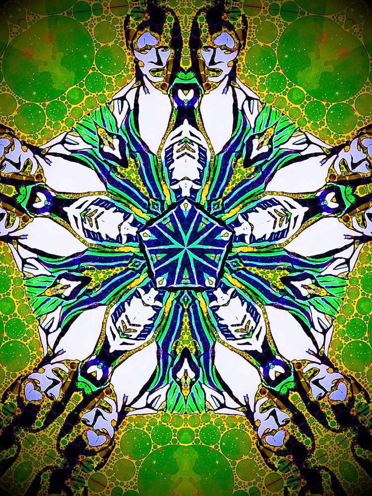 bowie, kaleidoscope, green, starman - adamaf | ello