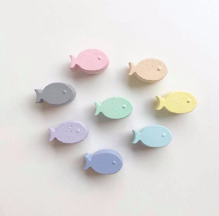 Concrete Fish Magnets - concretemagnets - sweetyellowdecor | ello