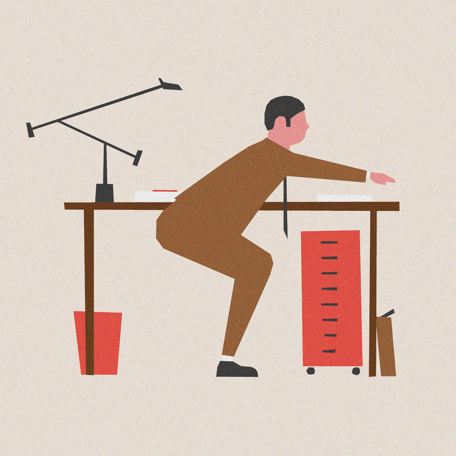 OFFICE WORKOUT, Digital Illustr - sebastiankoenig | ello