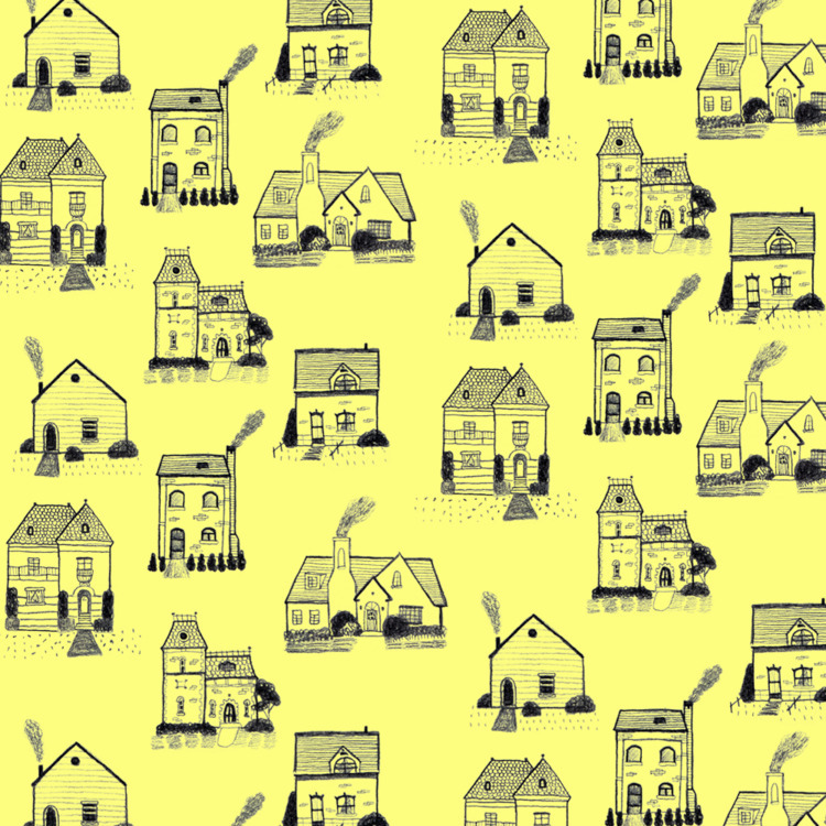 tiny house pattern' Graphite pa - heylava | ello