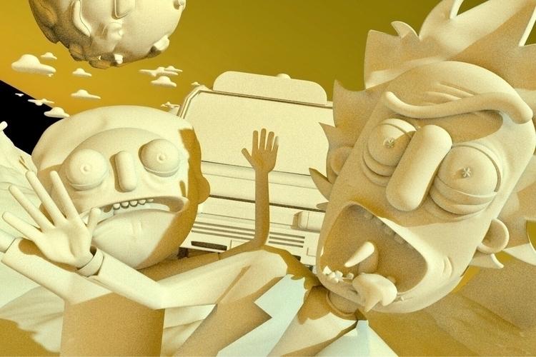 WIP Rick Morty - render, rendertime - tataportal | ello