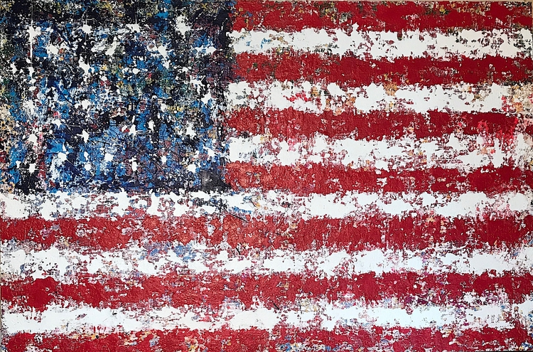 "freedom flag 72""x48"" acrylic ca - nuisms 