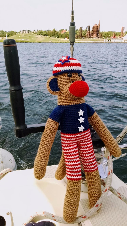 Happy Stars Stripes Monkey Monk - miniaturemonkeycreations | ello