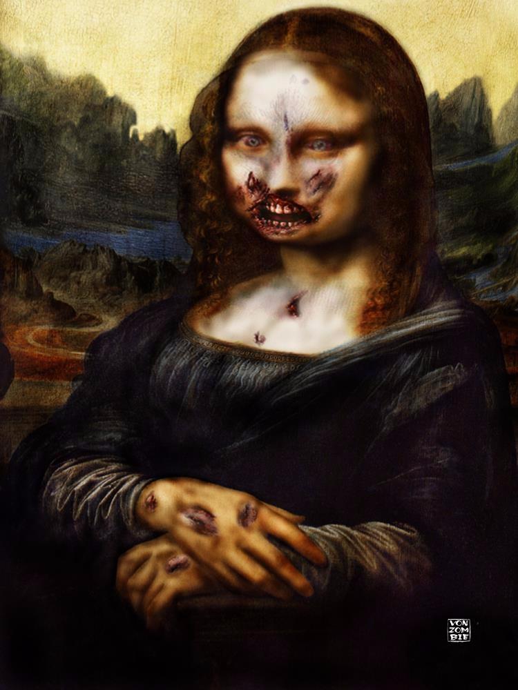 Moan Lisa de Zombie original di - vonzombie | ello