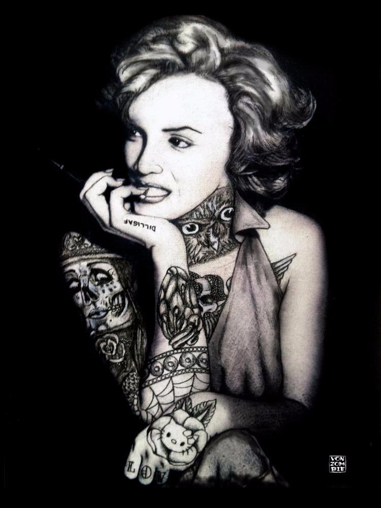 Ms. Marilyn Suicide original pi - vonzombie | ello