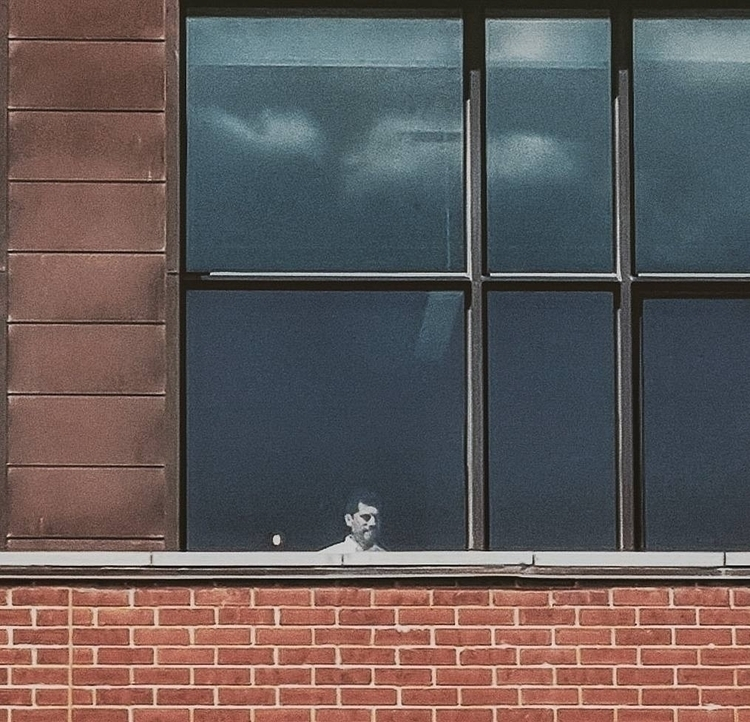 Man window - streetphotography, minimalism - francesco_shank | ello