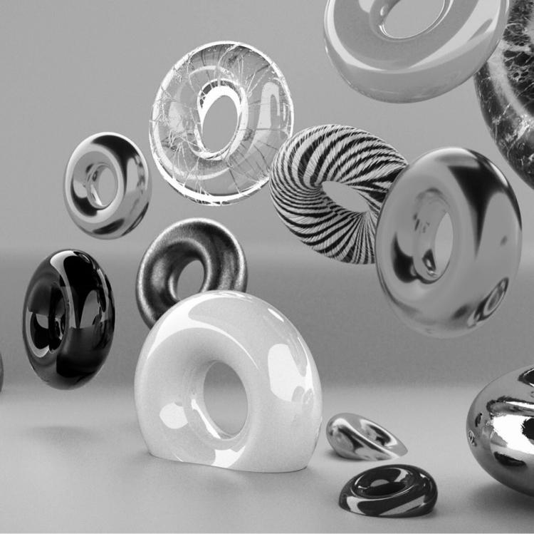 Material Doughnuts - 3D, Render - momosby   ello
