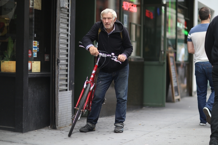 Waiting Cyclist** man waiting f - kevinrubin | ello