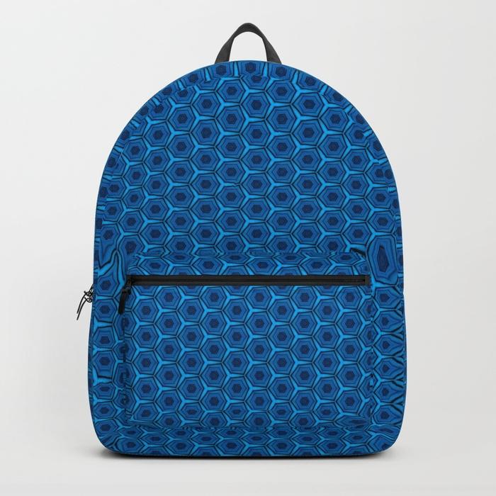 Geometric Peacock Blue Pattern  - alishadawncreations | ello