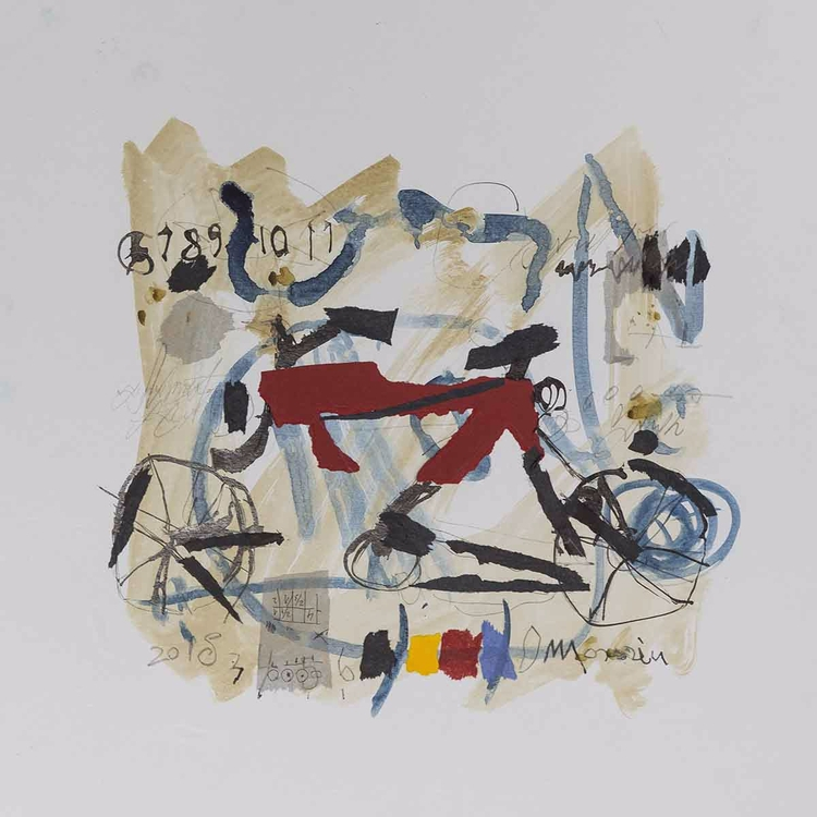 """Bicycle 2"" Daniela Morariu Ink - strategieart 
