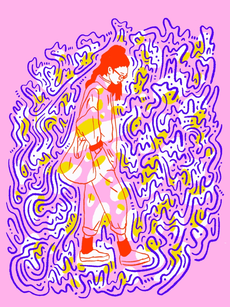 Colourful Strides - illustration - heybop | ello