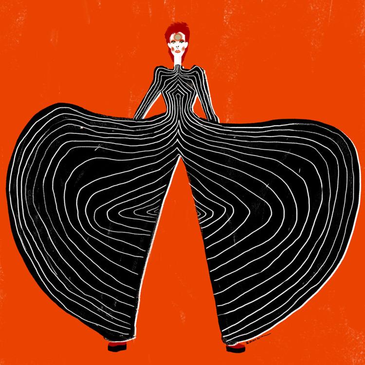 Bowie - art, illustration, fashion - eduardorama   ello