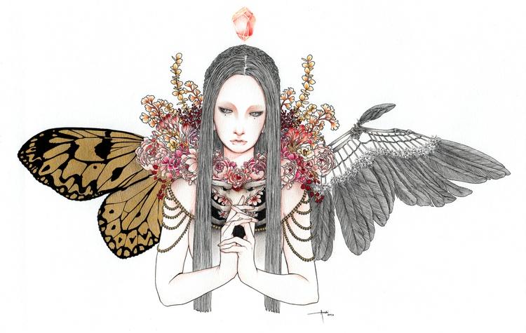 Spirit Fled' Ink, graphite, col - andimacka | ello