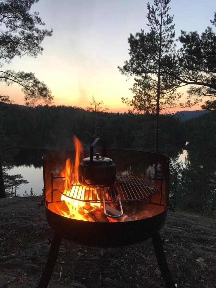 Sunset,, campfire,, coffee:heart_eyes: - nette77 | ello