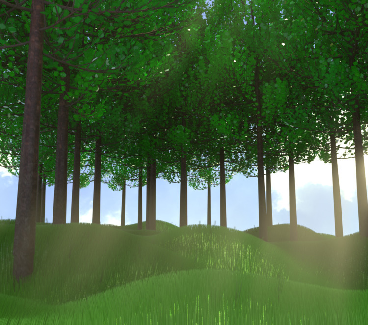 trees - render, blender, cycles - solutuminvictus | ello