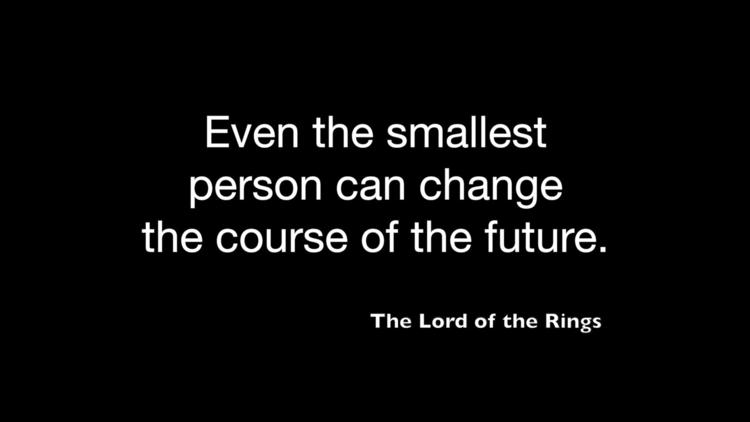 Lord Rings, quote. design artwo - moviemania | ello
