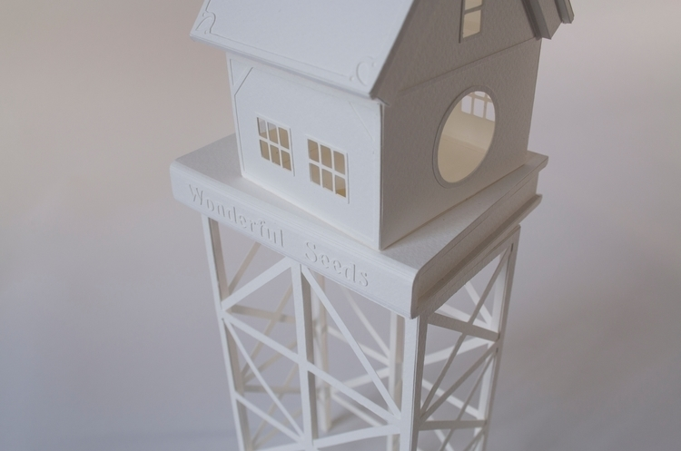 Paper sculpture. Detail Plant L - veravanwolferen | ello