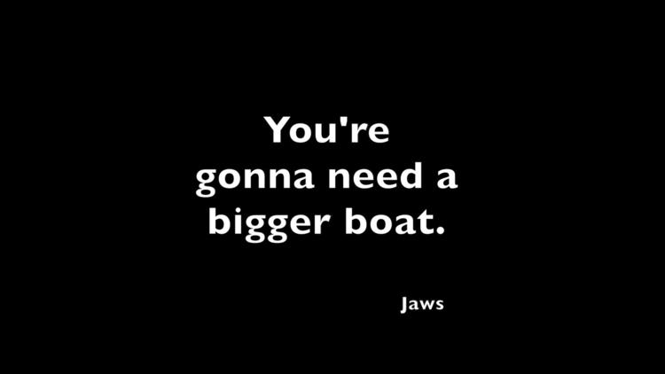 Jaws, quote. design artwork wal - moviemania | ello