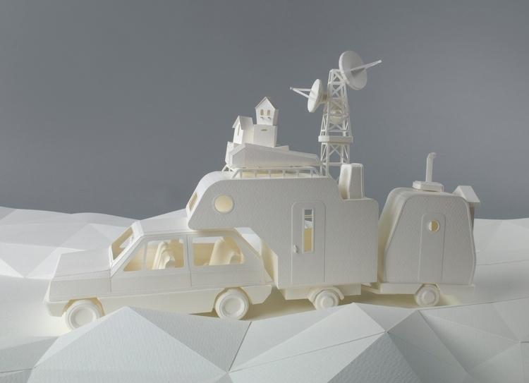 Campers, paper sculptures, part - veravanwolferen | ello