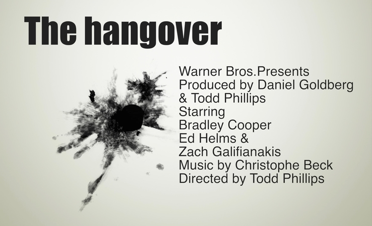 Hangover, cast. design artwork  - moviemania | ello