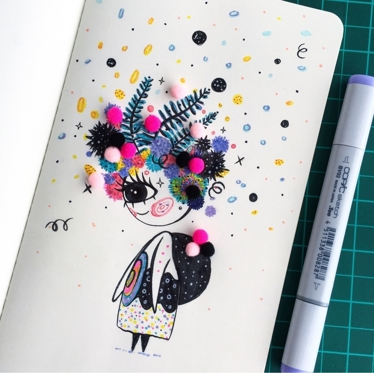 Duendecillo floral - doodle - suagape | ello