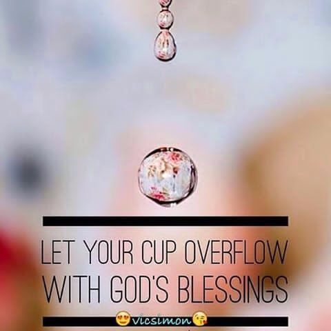 cup overflow Cheers - Blessings - vicsimon | ello