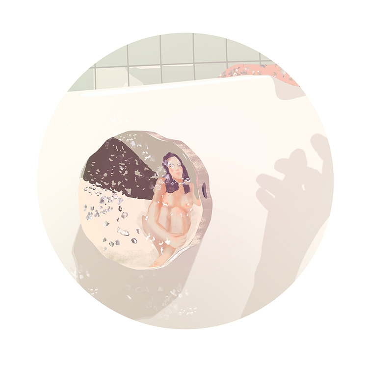 woman, illustration, bathroom - annabellaorosz | ello