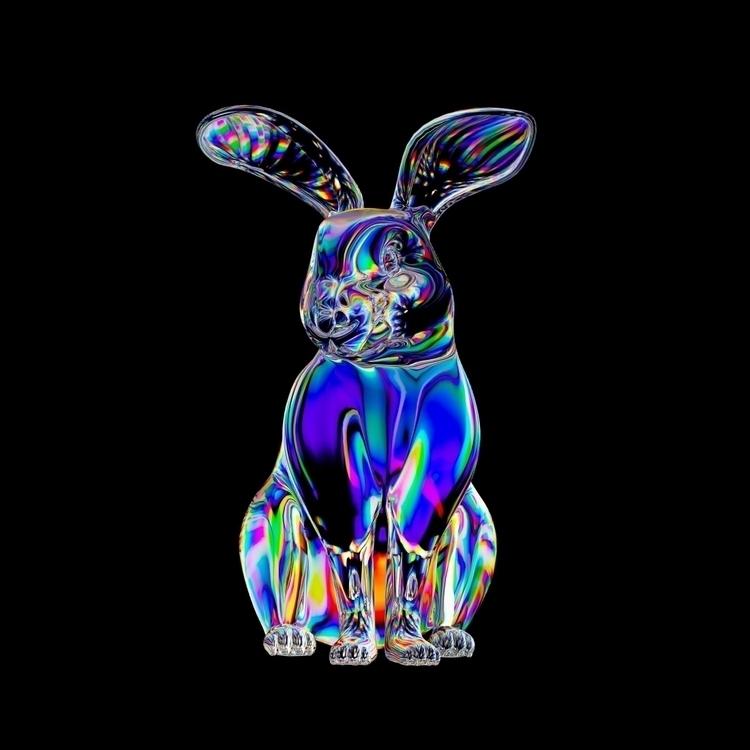 wip - cinema4d, bunny, digital, dispersion - skip1frame | ello