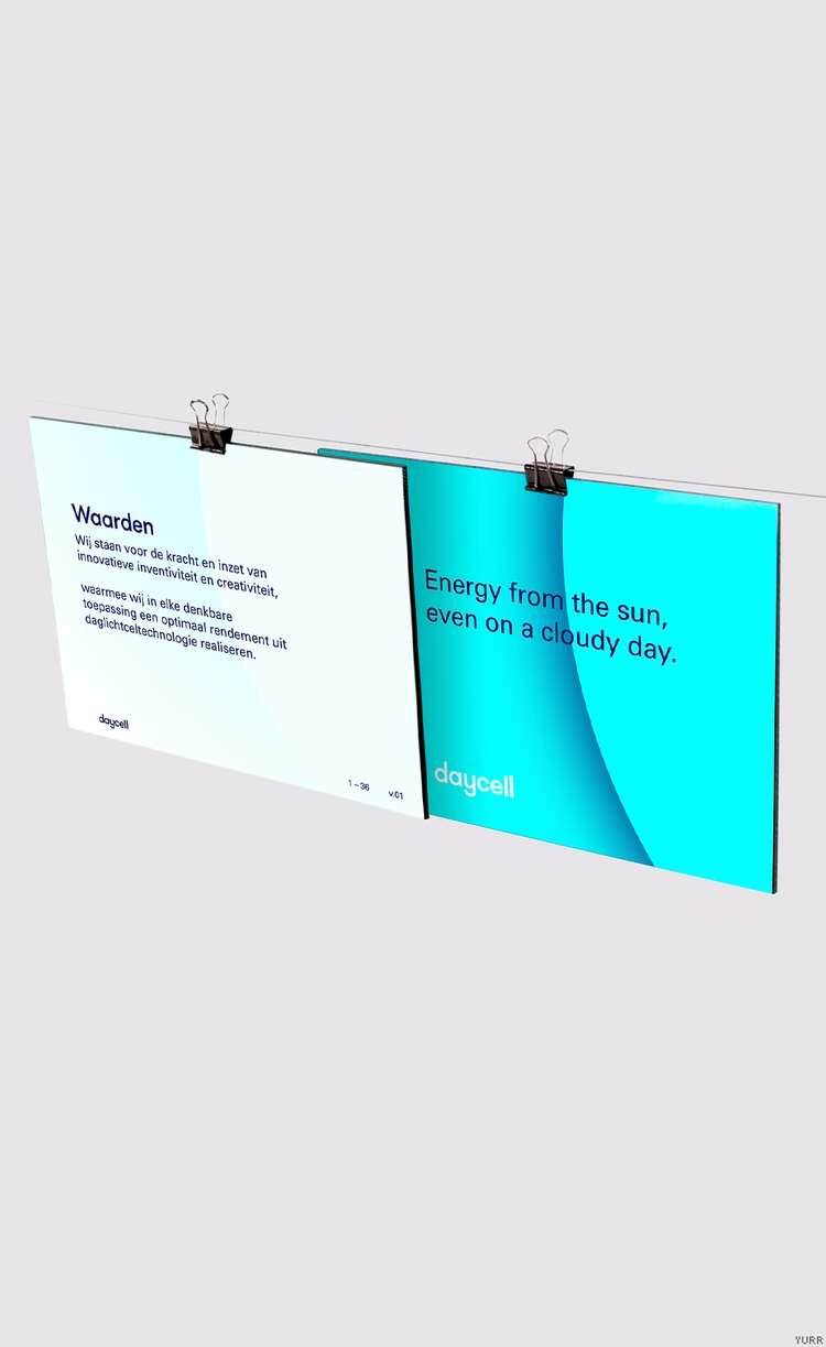 Daycell ~ Presentation sheet - powerpoint - yurrstudio | ello