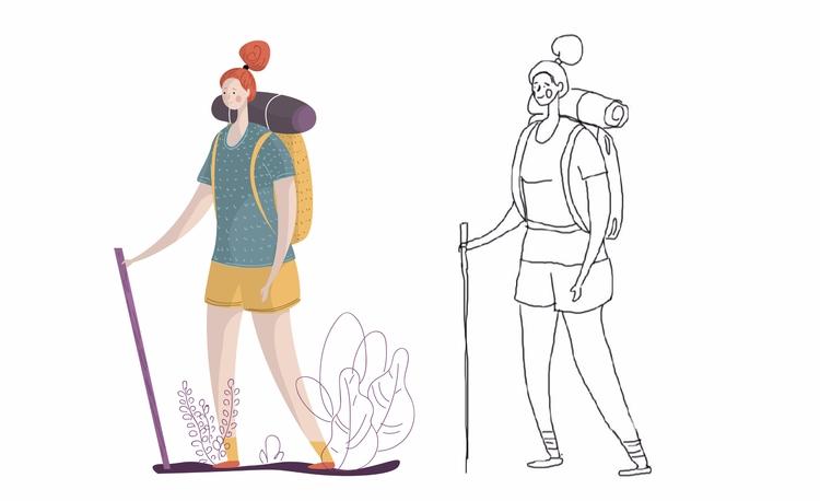 camping - Renderforest, illustration - renderforest | ello