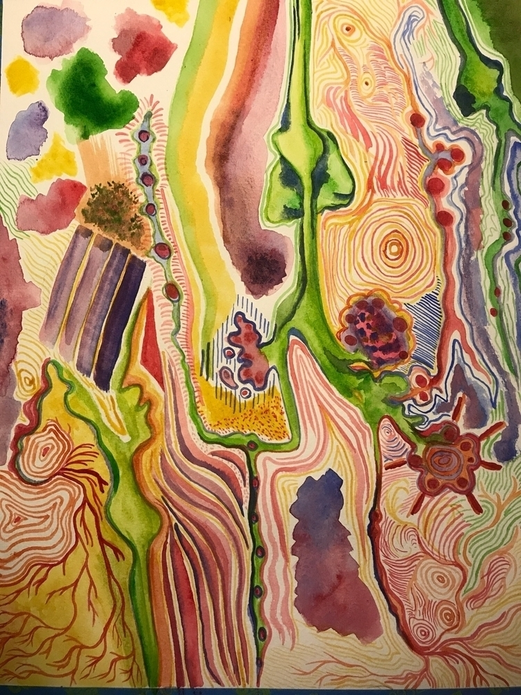 neuron watercolor 2017 - elena_k_mak | ello