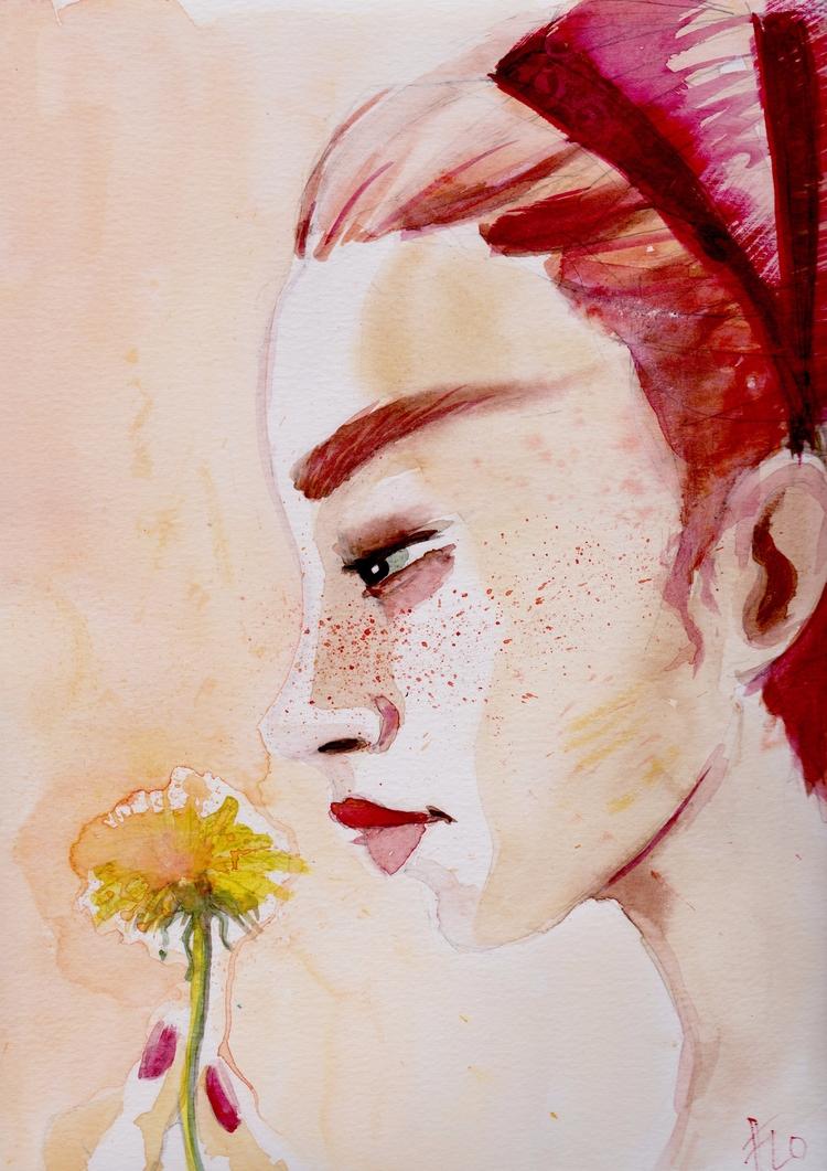 Red Dandelion - red, ginger, girl - flolmi | ello