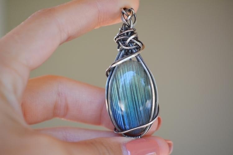blue labradorite antiqued sterl - sacredcrystalco | ello