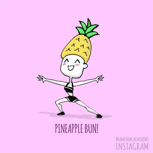 heard Pineapple Bun - cute, doodles - anishacreations | ello