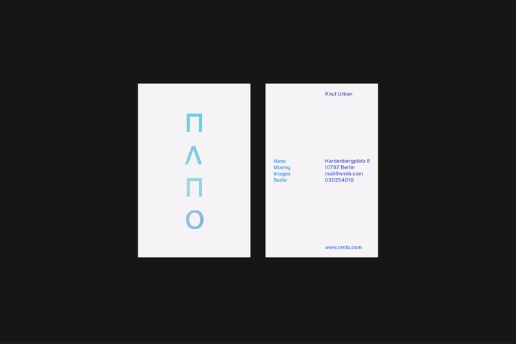 Business Card Nano Branding - graphicdesign - studiouna | ello