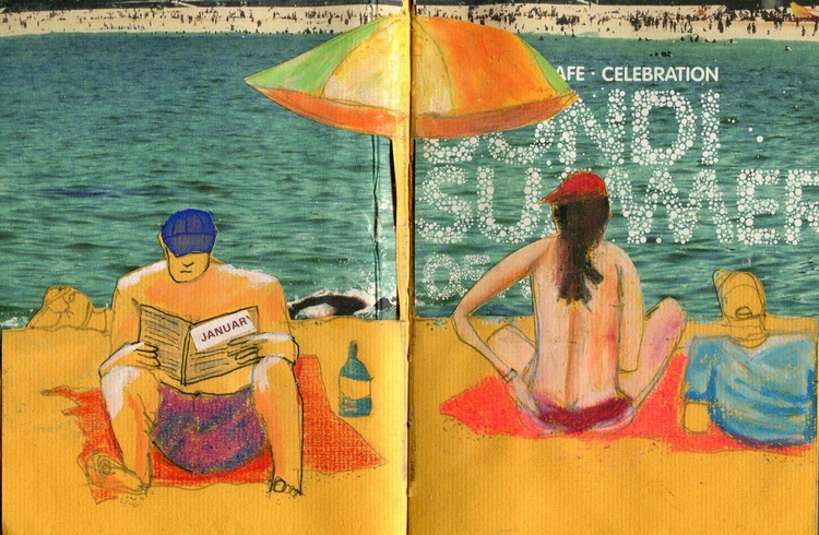 Collage artwork notebook, Summe - palahoyos | ello