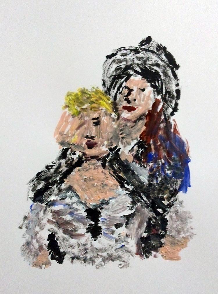 Friends - Minimalist Painting A - alister-owl | ello