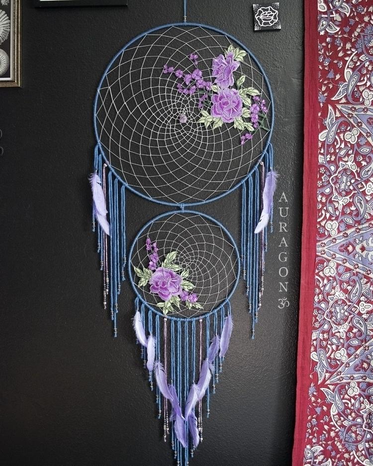 Large lavender roses dream catc - auragon | ello