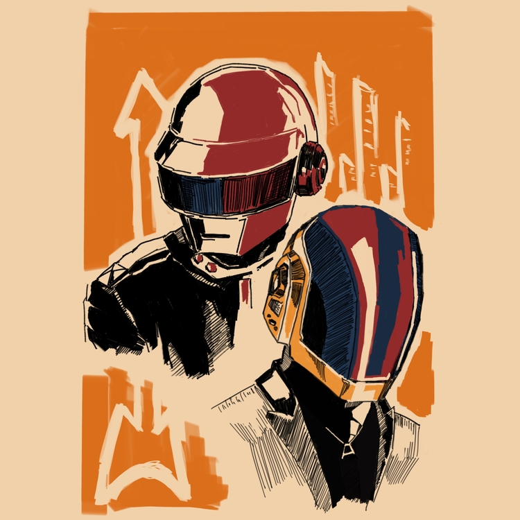 Tattoo Draft | Daft Punk sketch - daydalaus | ello