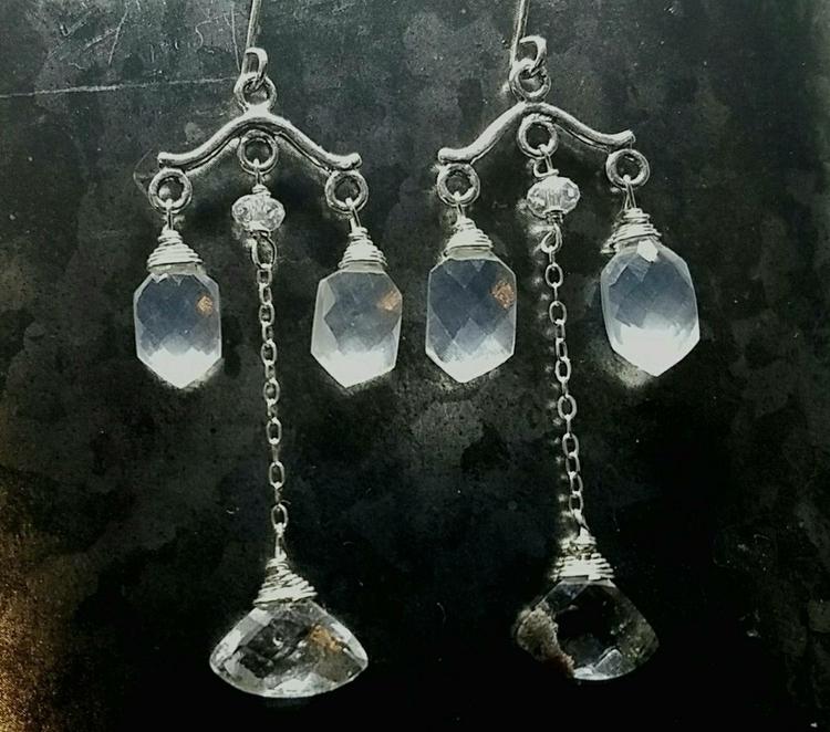 chandelierearrings, gardenquartz - lolafaejewelry | ello