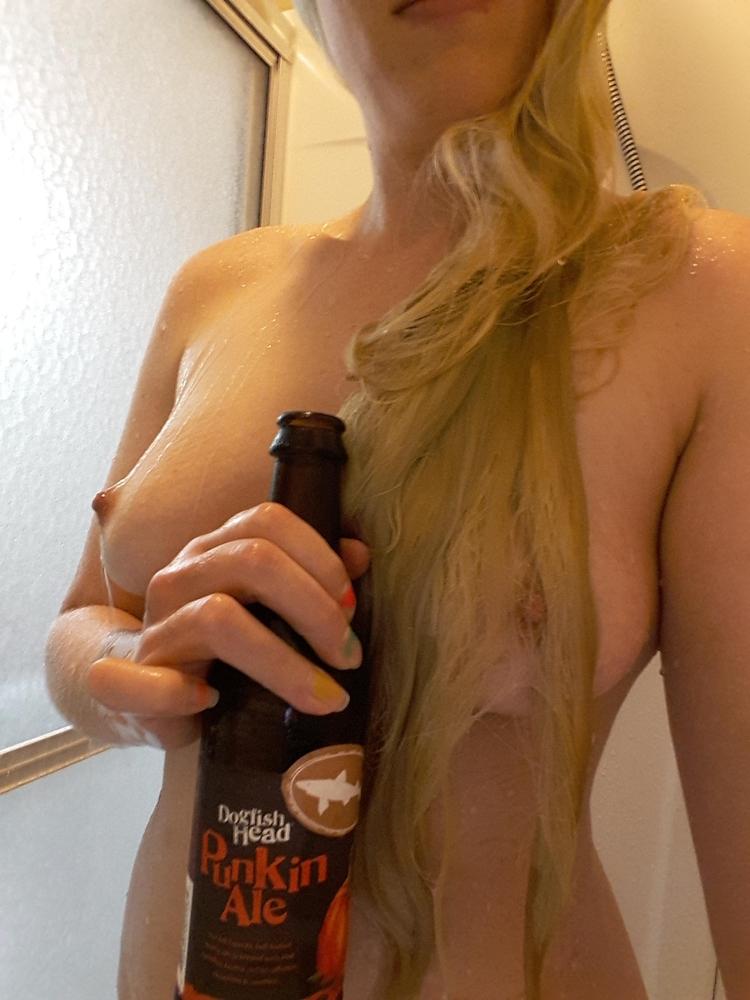 blonde, tits, shower, beer, nsfw - ukimalefu | ello