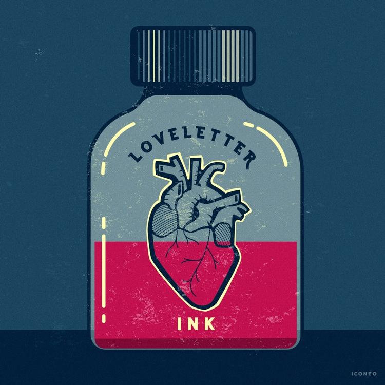 Love letter ink - love, heart - iconeo | ello