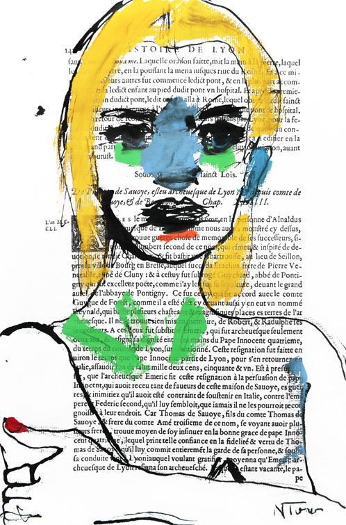 Kate Moss, Pen Ink, acrylic Arc - nealturner | ello