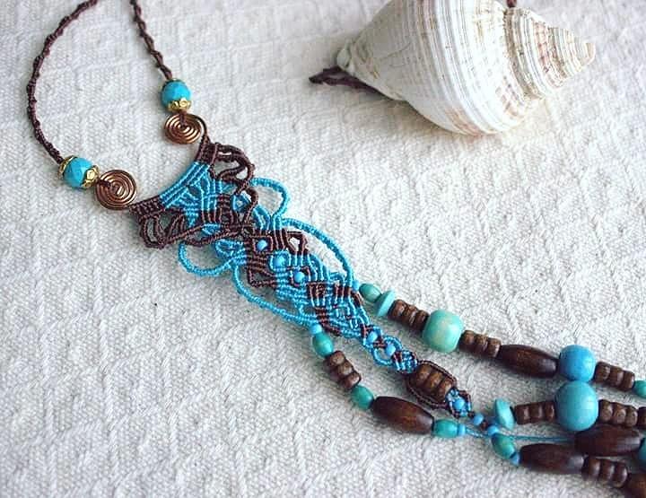 birbyzossleptuve, knot, necklace - macrame_birbyzossleptuve | ello